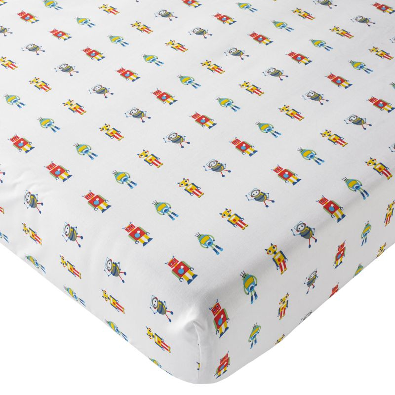 robot fitted sheet fab for a kids bedroom