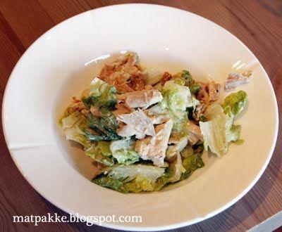 Monicas veldig, veldig gode Cæsar-salat