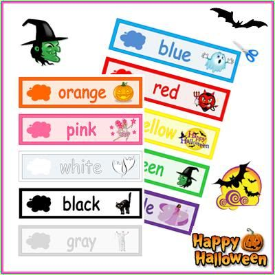 Colors - Halloween Theme   Halloween words, School and Literacy