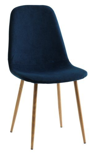 Krzesło Jonstrup Nieb Welurdąb Jysk Jadalnia Krzesła