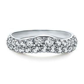 1 Carat Round Cut White D Vvs1 Wedding Band Ring In 10k Gold