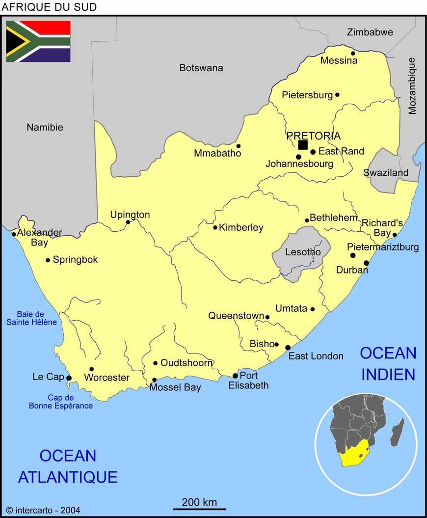 Carte Afrique Du Sud Carte Afrique Du Sud Afrique Du Sud Carte