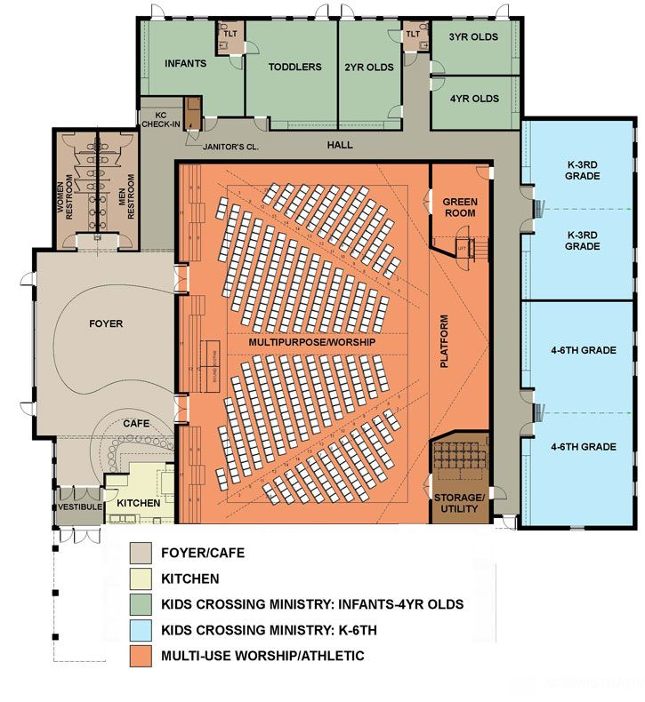 Steel Church Building Plans | Church Building Floor Plans | Gen
