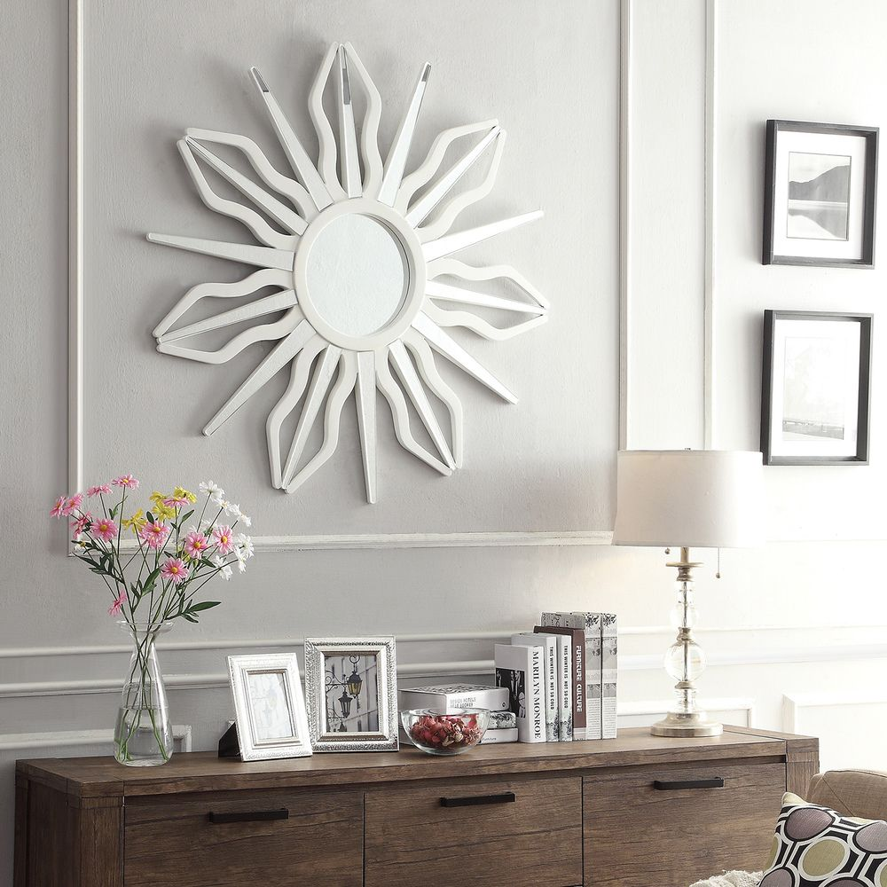 INSPIRE Q Octavia Antiquity Sunburst Accent Wall Mirror by iNSPIRE Q