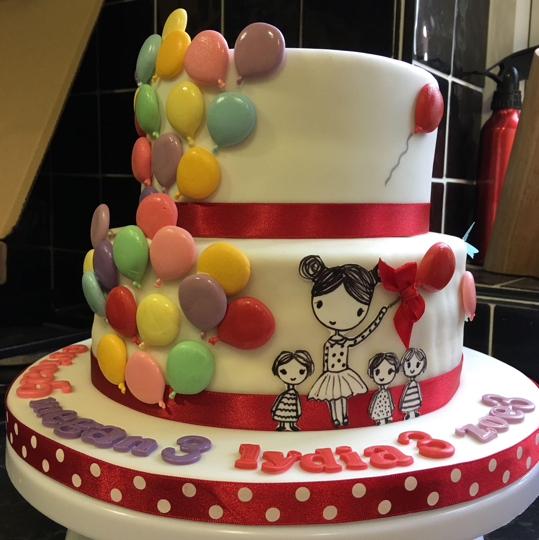 Balloon birthday cake birthday cake cake decorating