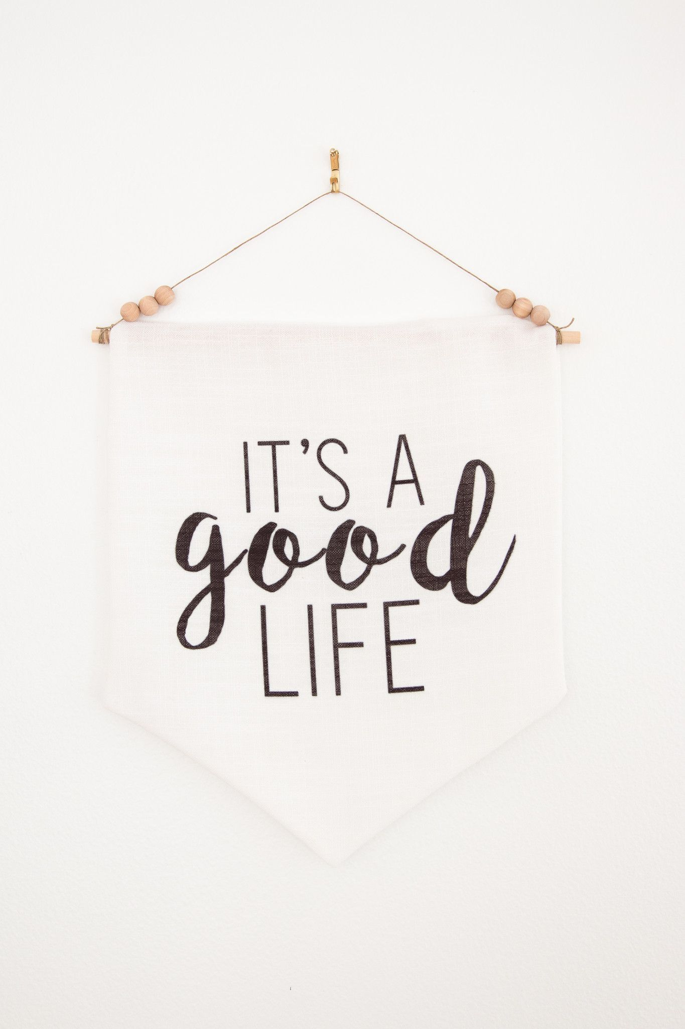 Its a good life 12x14 wall pennant life is good modern its a good life 12x14 wall pennant life is good modern minimalist home decor amipublicfo Gallery