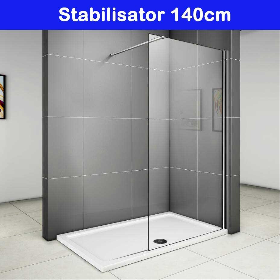 duschabtrennung duschwand seitenwand walk in dusche glaswand 70 76 80 90 cm renovation. Black Bedroom Furniture Sets. Home Design Ideas