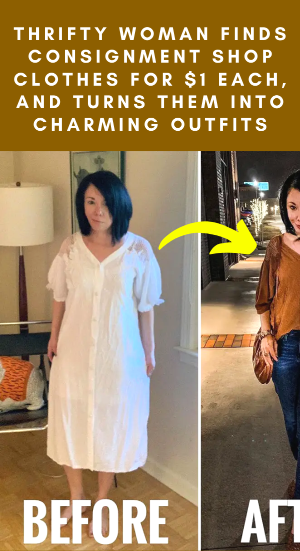 Photo of Thrifty woman finds consignment shop clothes for $1 each, and turns them into charming outfits