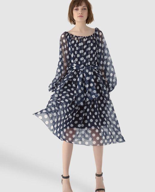 Vestido de mujer Georges Rech de gasa con manga larga