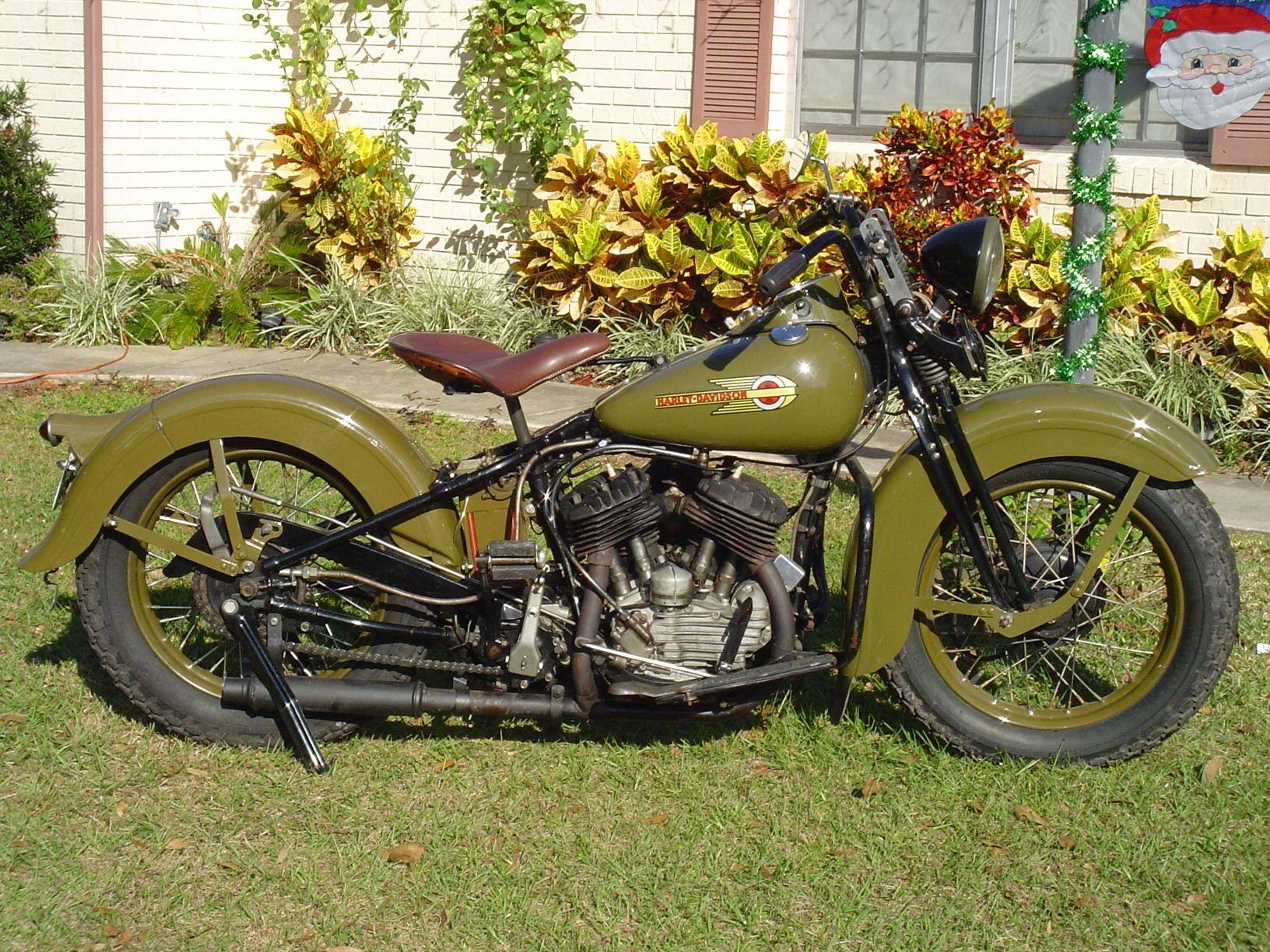 1937 Harley Davidson Wl 45 Harley Davidson History Cool Bikes