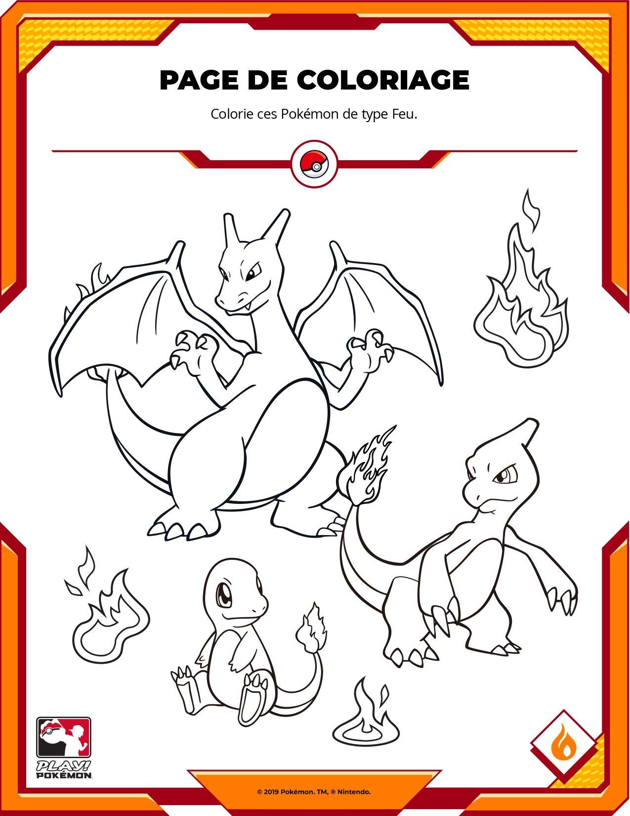 Coloriage Pokemon Salameche Reptincel Et Dracaufeu Fire Type Pokemon Pokemon Breeds Pokemon