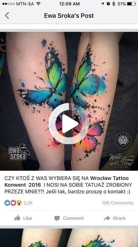 #Butterfly #ideas #sleeve #Tattoo #Watercolor Best Tattoo Butterfly Wa