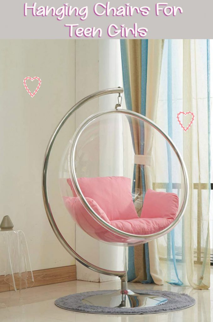 Hanging Bubble Chair with Stand for Teens Girl Room | Bedroom