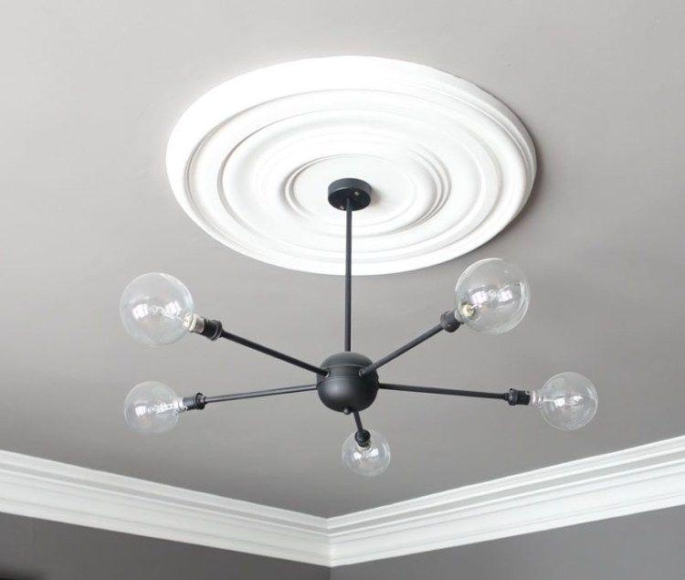 My DIY (did it myself) 5-arm ceiling light.