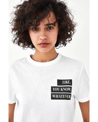 Image 5 Of Printed T Shirt From Zara Slogan T Shirt Ideas Of Slogan T Shirt Slogantshirts Sloganshirts Camisetas Cristas Camisetas Camisetas Evangelicas