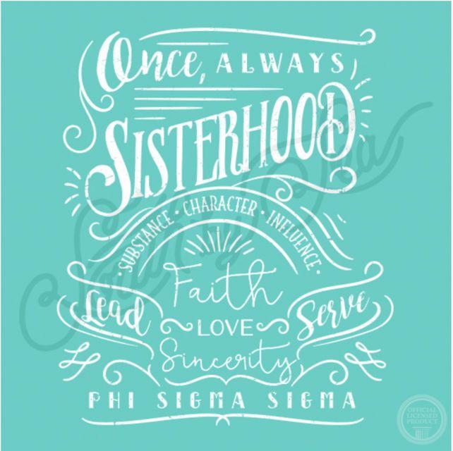 Phi Sigma Sigma | Sisterhood | Values | Hand Drawn T-Shirt Design | South by Sea…