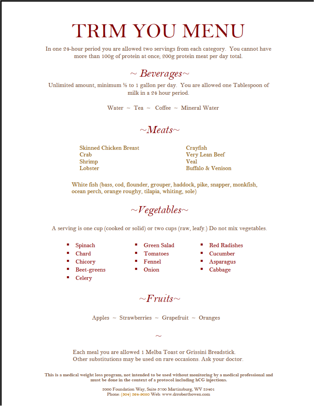 doctor simeons hcg diet plan