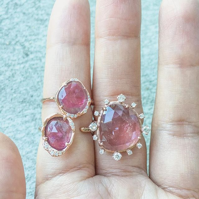 ::: pink tourmaline ::: in 3 different ways  #madewithlove #sirciamjewelry