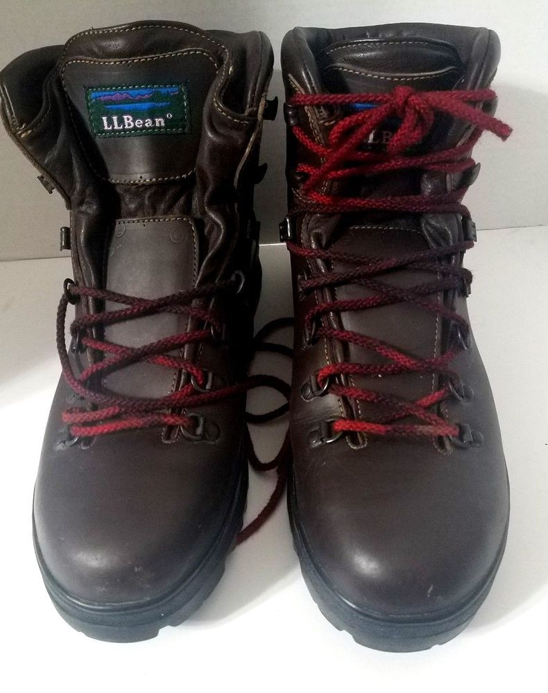 10e8f01dc7b MENS VTG ITALY Mens 11N LL BEAN GORE TEX BROWN LEATHER LACE UP ...