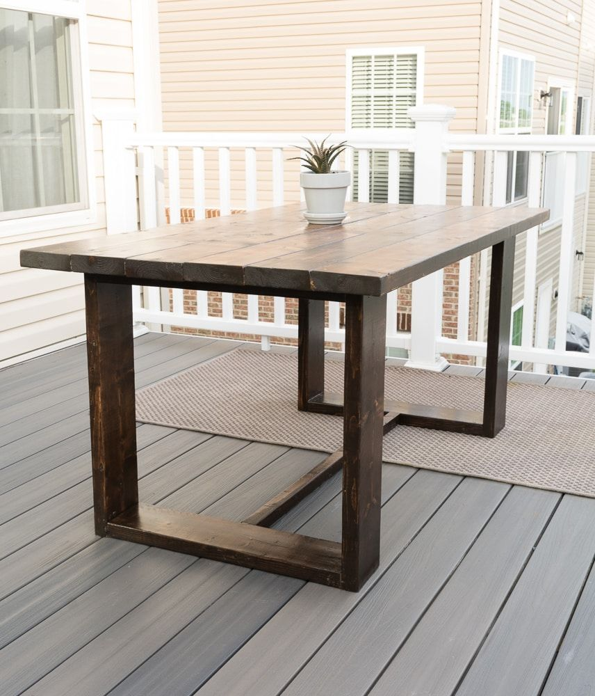 Concrete Outdoor Side Table Made From Pavers Free Build Plans Diy Dining Table Modern Outdoor Table Diy Table Legs [ 1000 x 856 Pixel ]