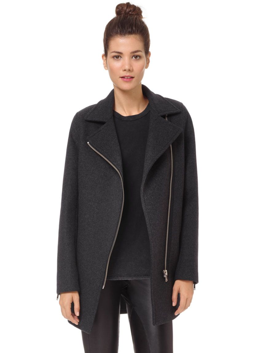 be68ea790489 WILFRED FREE FEI COAT - Warm meets cool  A tailored moto shape in a cozy