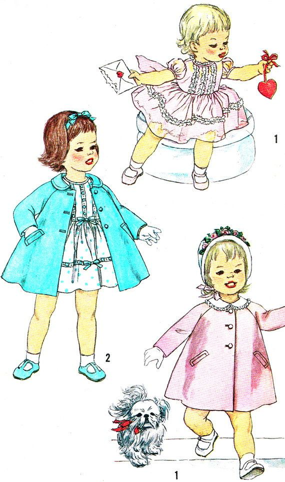 1960s Girls Dress Pattern Simplicity 3335 Toddler by paneenjerez ...