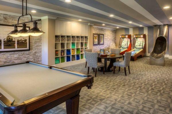 Game Room Basement, Basement Game Room Design Ideas