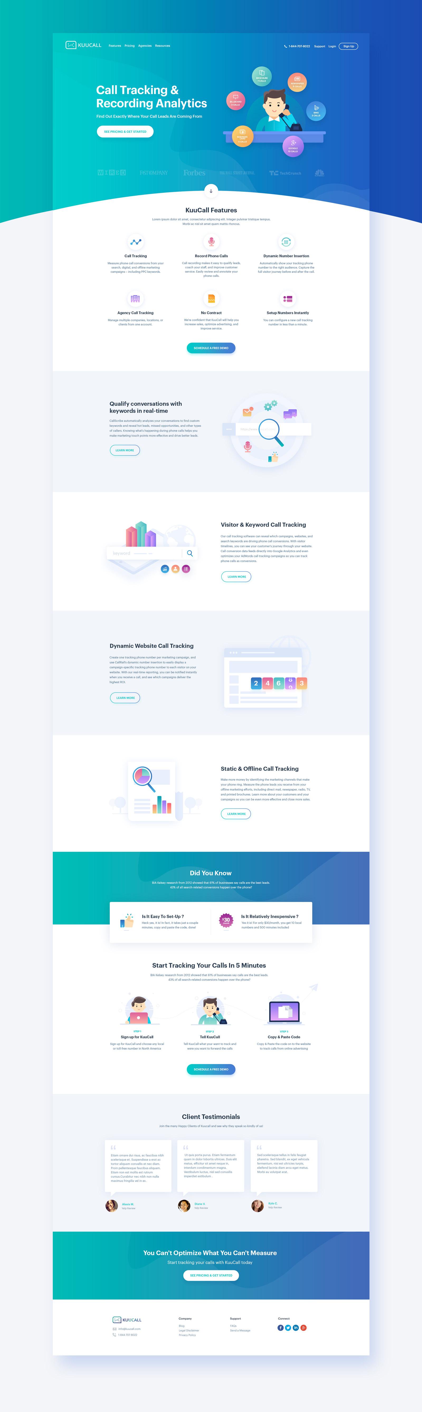 Kuucall Homepage Design Version 2 Homepage Design Web Design Web Design Inspiration