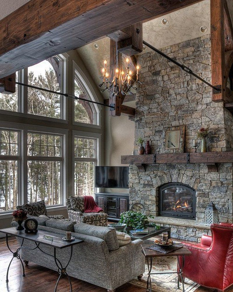 Modern Rustic Living Room Ideas Rustic Fireplaces