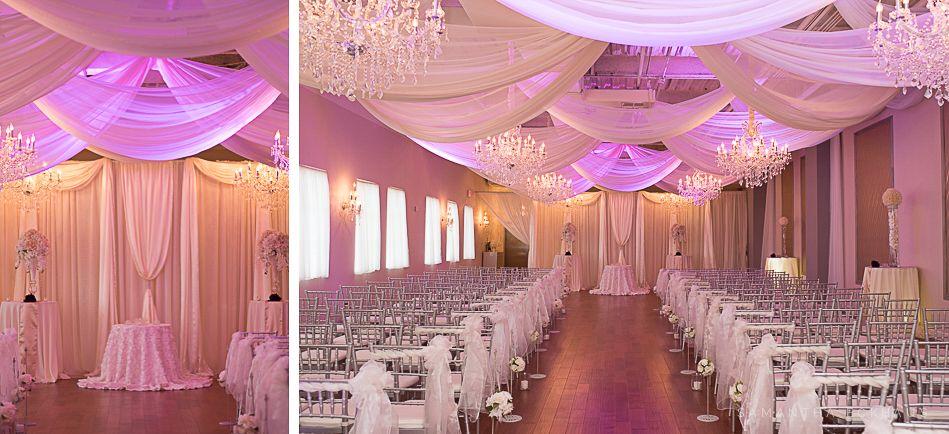 Crystal Ballroom At The Veranda In Metrowest By Orlando Wedding Photographer Corner House Photography Purple Diamond Silver And White