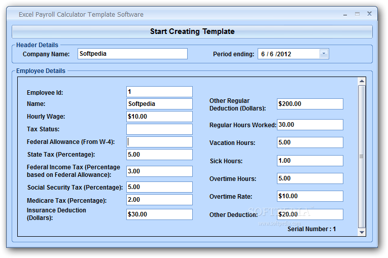 Excel Payroll Calculator Template Software Download Payroll Template Payroll Sample Resume