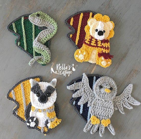 Crochet Pattern - INSTANT PDF DOWNLOAD - Crochet - Pattern - Applique Pattern - Wizard Pattern