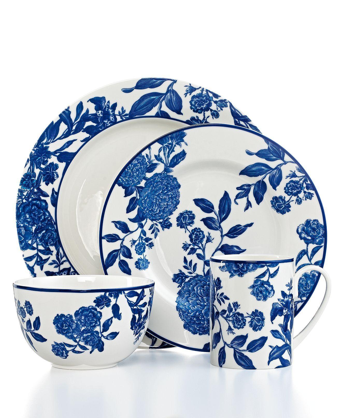 Martha Stewart Collection Orleans Cobalt Casual Dinnerware