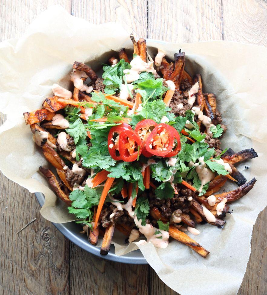 Asian sweet potato fries