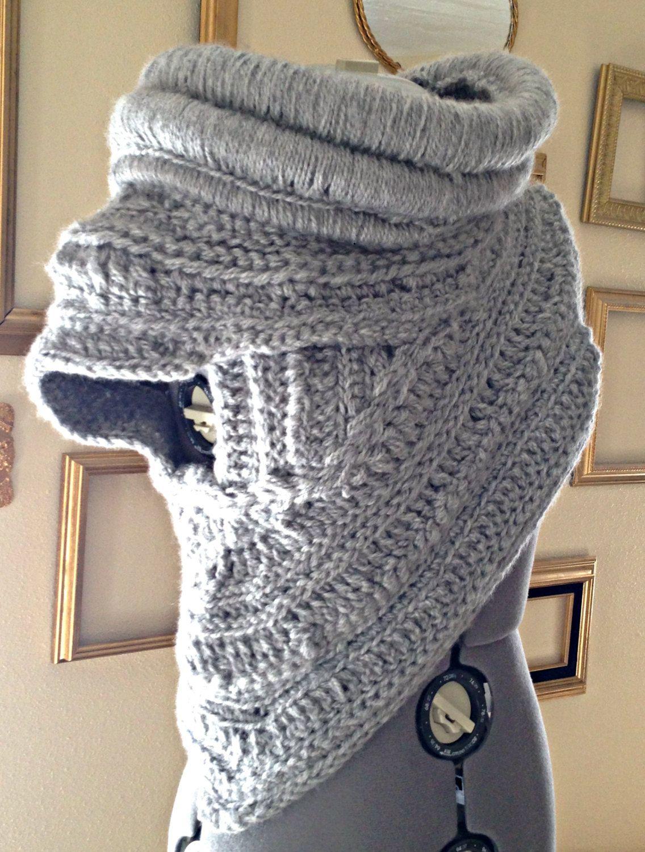 Katniss inspired Cowl Handmade Crochet by YellowSpotDesigns