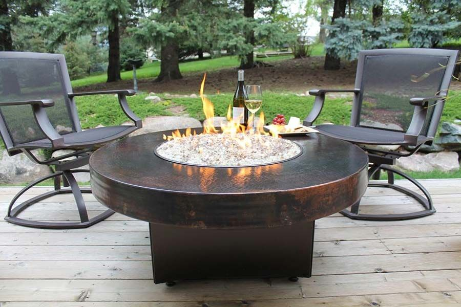 Marvelous Image Of: Outdoor Gas Fire Pit Portable