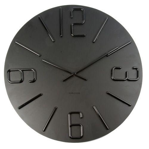 Karlsson Wall Clock Relief Xl Plastic Wood 248 60 Cm Via