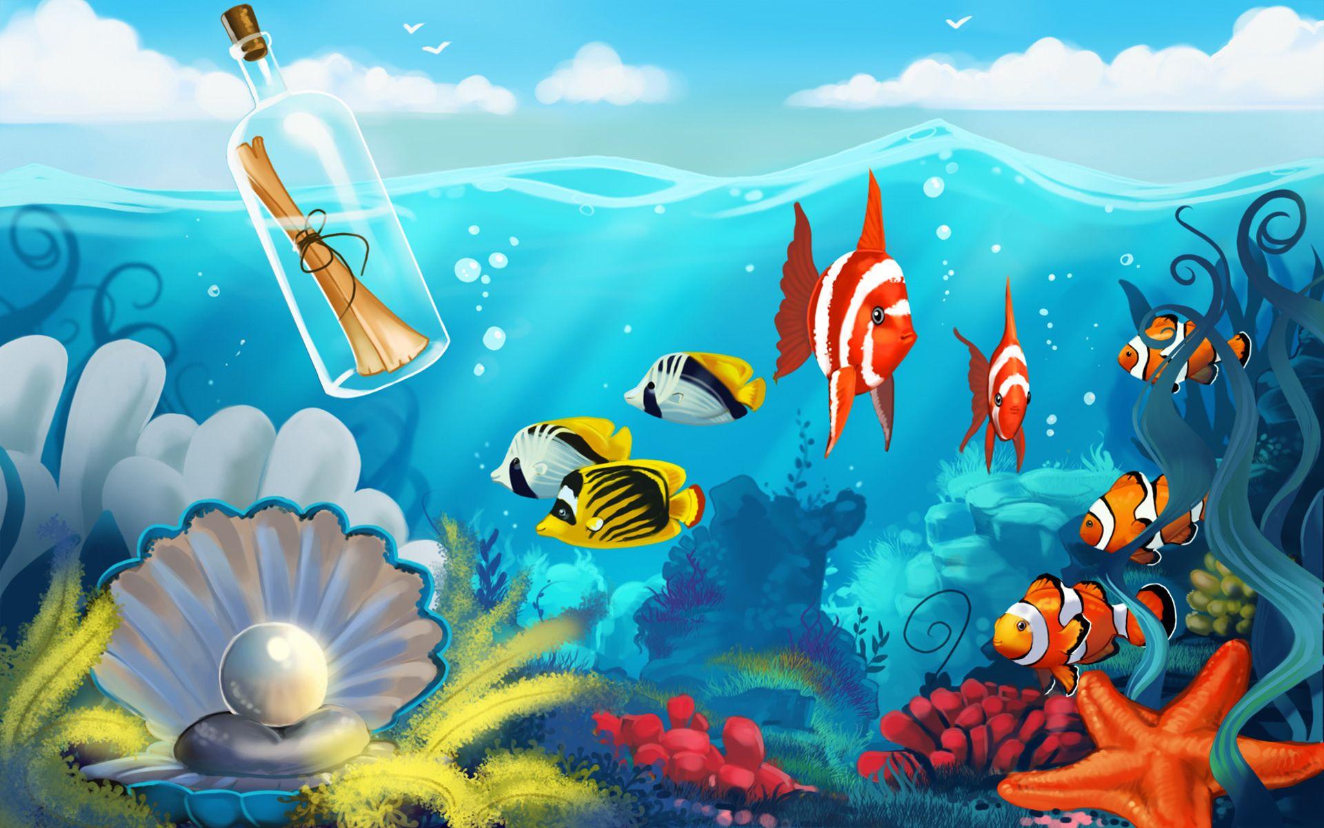 подводный мир открытку в дет сад рисунок недавно