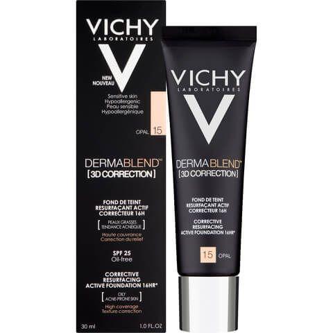 Vichy Dermablend 3d Correction Fluid Foundation 30ml Various Shades Mejores Correctores Tipos De Piel Maquillaje