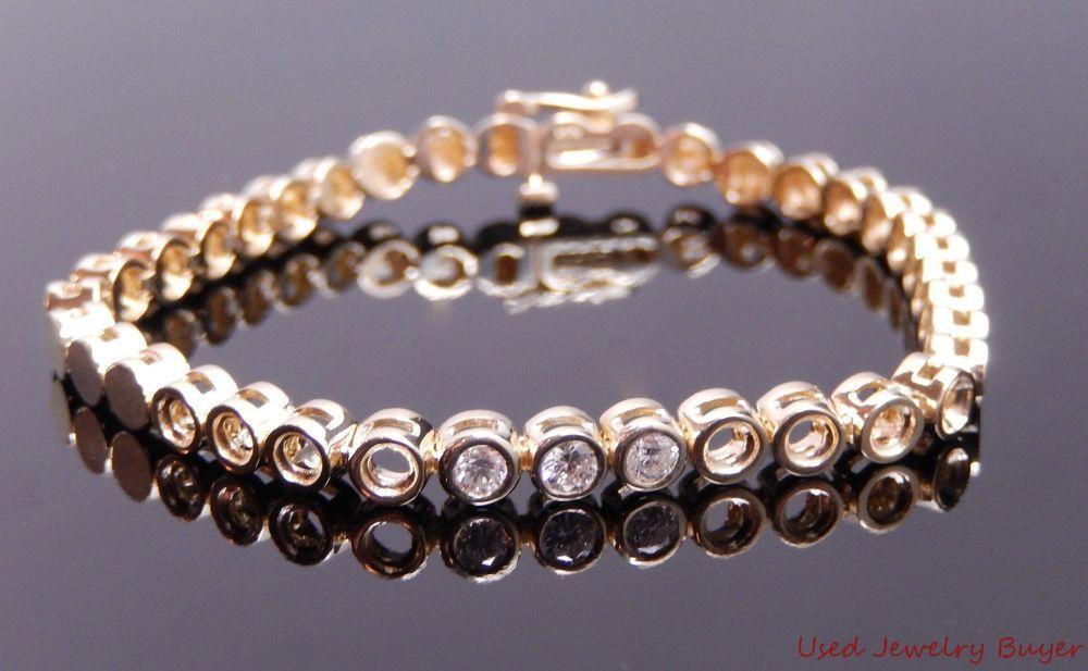 Vintage Add A Diamond Tennis Bracelet W 33ctw Diamonds E For 8 More 6 5 Unknown