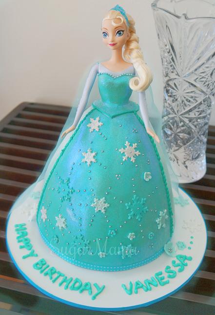 Elsa doll cake Pinteres