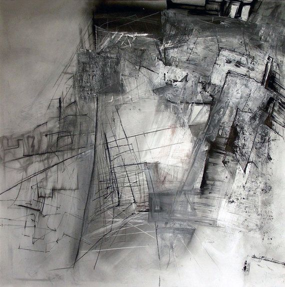 Charcoal drawing original art drawing pencil drawing modern abstract picture decorative arts achromatic drawing by dorota jedrusik on etsy 414 00