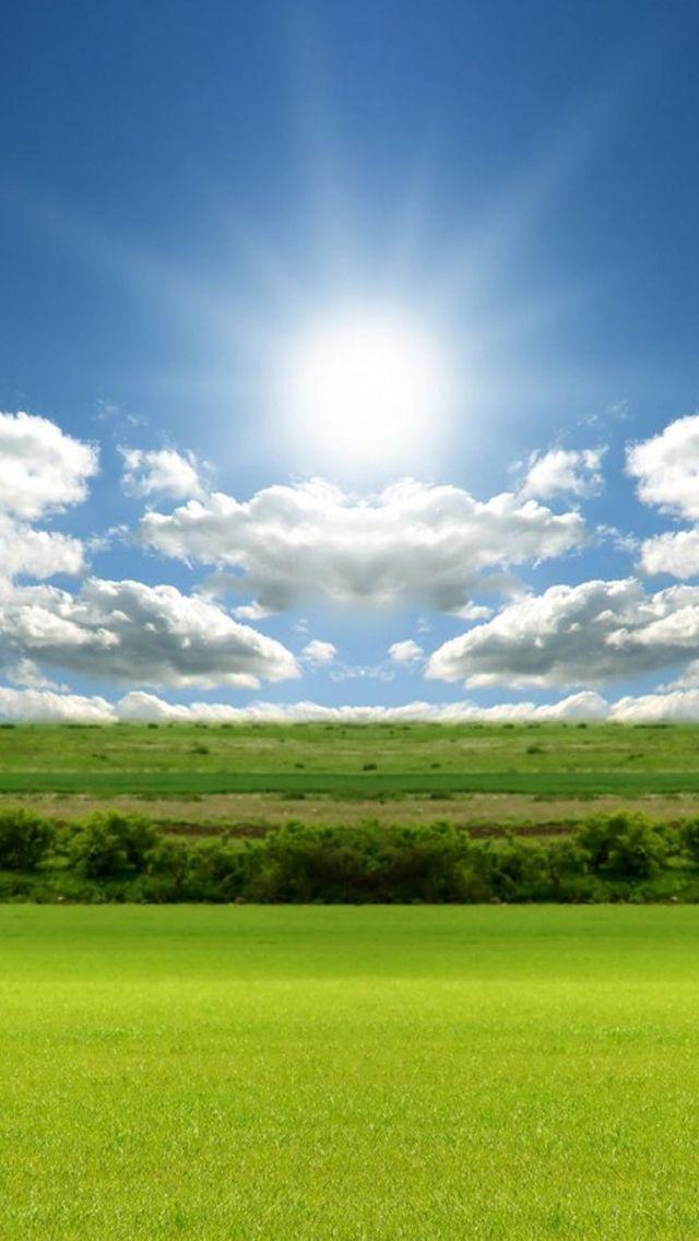Nature Bright Sunshine Field Cloudy Skyscape Iphone Wallpapers Nature Sunshine Wallpaper Skyscape