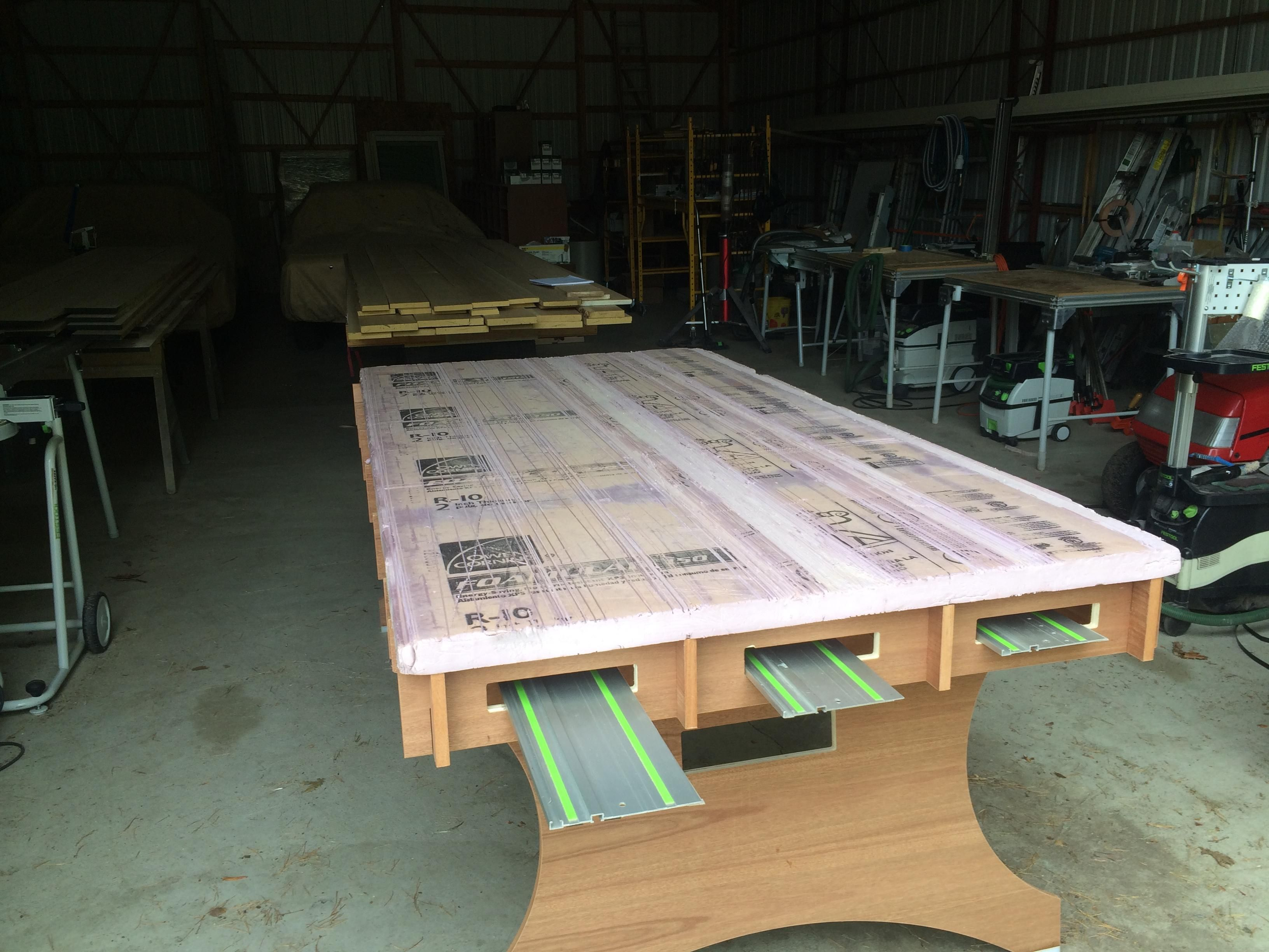 Workshop Countertop Large Cutting Surface For Track Saw Ts 75 Eq Festool