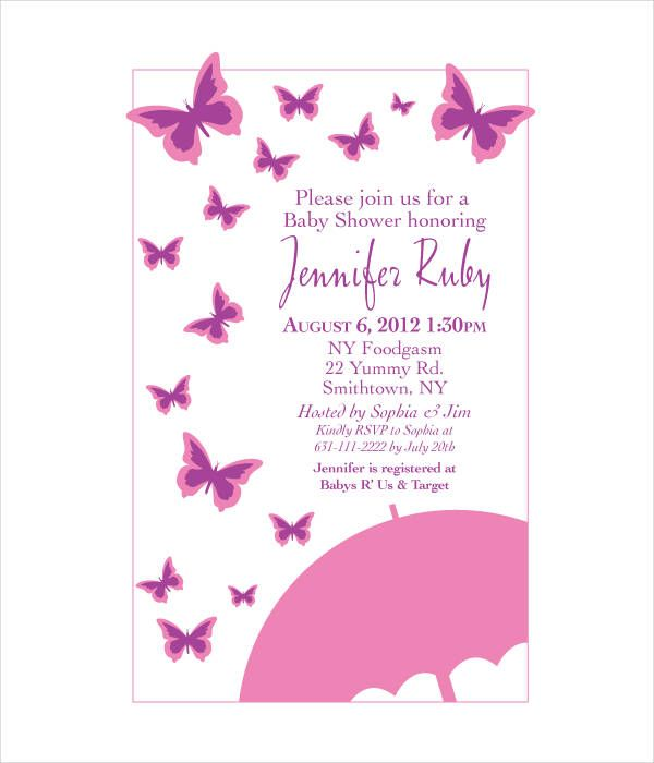 10 Butterfly Invitation Templates