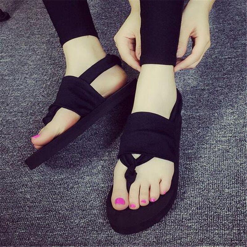 034bad0dfe045 2017 Summer National Style Designer Flip Flops Beach Slides Women Shoes  Casual Women Sandals Female Flat