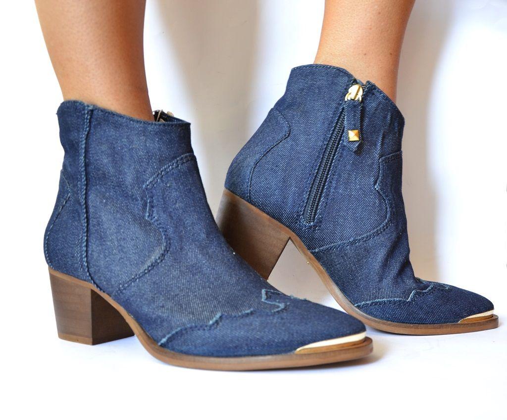 Stradivarius Jeansowe Botki Kowbojki Allegro Conestilo Ankle Boot Boots Shoes