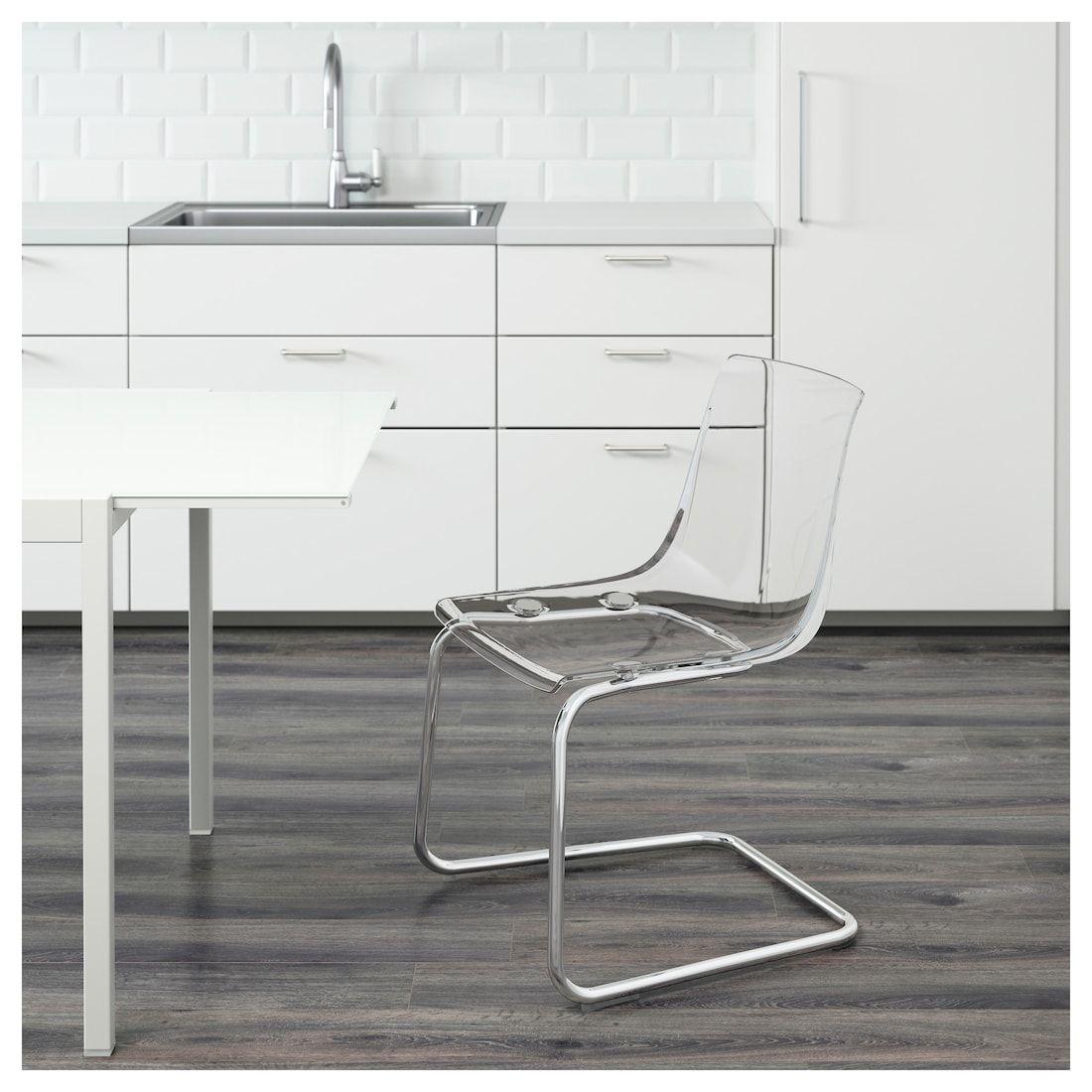 Tobias Chair Transparent Chrome Plated Ikea Clear Chairs Transparent Chair Ikea Chair