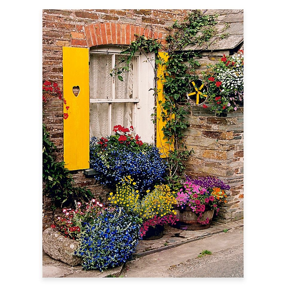 Polperro All Weather Outdoor Canvas Wall Art Bed Bath Beyond In 2020 Outdoor Canvas Vertical Garden Canvas Wall Art