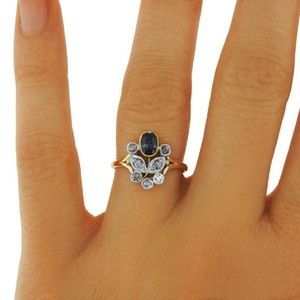 14K Yellow Gold The Ashleigh Ring, top view on a hand